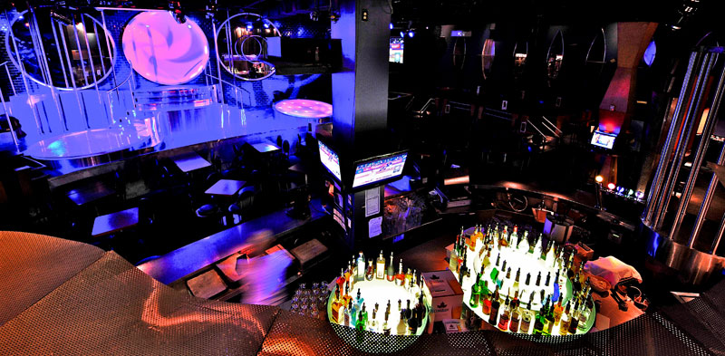 The main stage and bar area. Club Pro Adult Entertainment Lounge